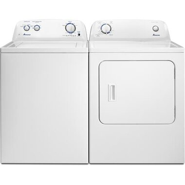 Amana - 3.5 CuFt Top Load Washer With 6.5 CuFt Front Load Electric Dryer