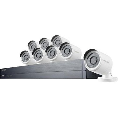 Samsung - 8 Camera 16 Channel 2MP (1080P) DVR Video Security System