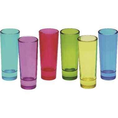 Circleware - 2 Oz. Blue Velvet Assorted Color Tall Shot Glasses