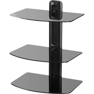 Etec - A/V Component Wall Mount Stand - 3 Shelves