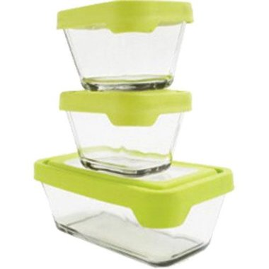 Anchor Hocking - Glass Food Storage Containers With Airtight Lids