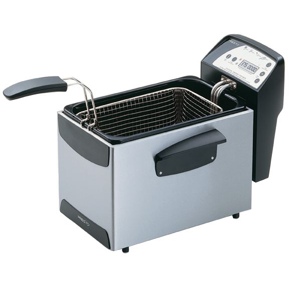 Presto 05462 digital profry 9 cup immersion deep fryer for Fish fry oil temp