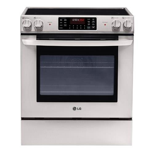 LG 30u0026quot; Stainless Steel Slide-In Electric Range with 5.4 CuFt Self-Cleaning Oven - LSE3090ST ...