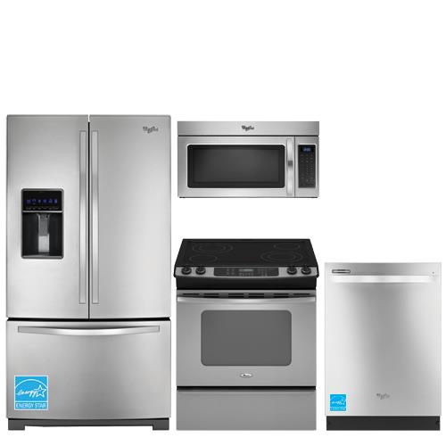 whirlpool wrf736sdam ss stainless steel kitchen package whirlpool wrf736sdam 26 1 cuft french. Black Bedroom Furniture Sets. Home Design Ideas