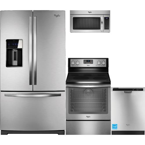 whirlpool wrf989sdam stainless steel complete kitchen package brandsmart usa. Black Bedroom Furniture Sets. Home Design Ideas