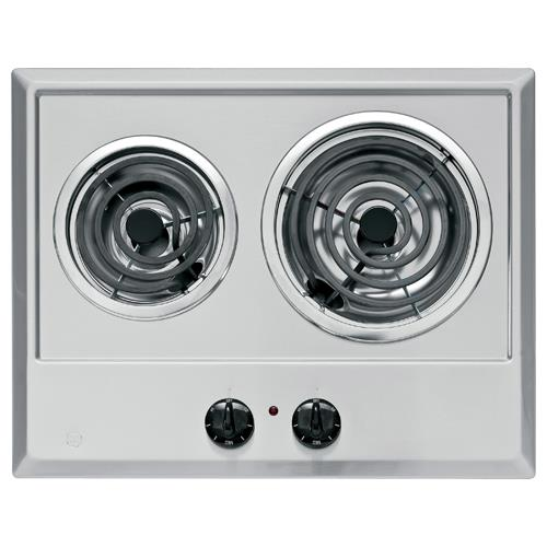 "GE 21"" Built-In Electric Cooktop Stainless JP201CBSS"