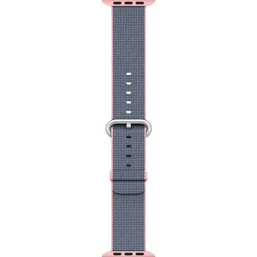 Apple Woven Nylon for Apple Watch 38mm Light Pink/Midnight Blue MNK62AM/A