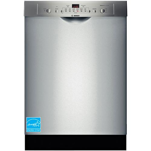 "Bosch Ascenta 24"" Front Control Tall Tub Built-In Dishwasher with Stainless-Steel Tub Stainless Steel SHE3AR75UC"