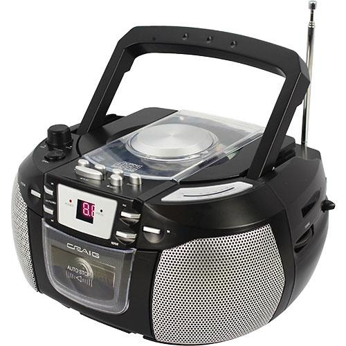 Image of CD Boombox With AM/FM Radio And Cassette Player