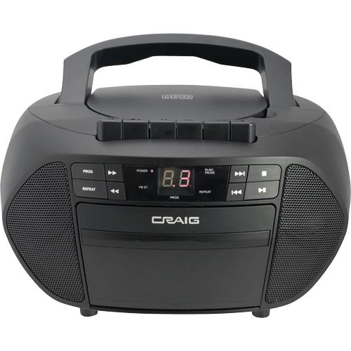 Image of CD Boombox with AM/FM Stereo Radio and Cassette Player / Recorder