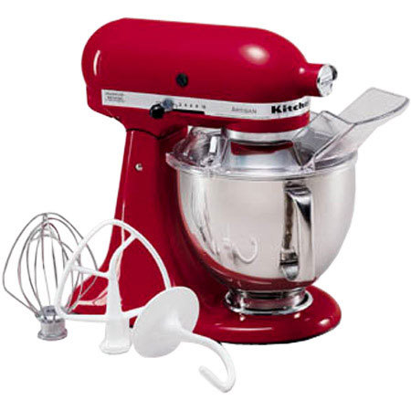 Kitchenaid ksm150pser artisan stand mixer 10 speed solid state control includes flat beater - Kitchenaid artisan qt stand mixer attachments ...