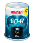 Maxell - 100 Pack CD-R (48X) on a Spindle