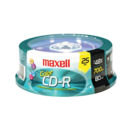 Maxell - Pack of 25 Multi-Color CD-R Media