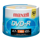 Maxell - Pack of 50 DVD-R Recordable Discs