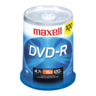 Maxell - Pack of 100 DVD-R Recordable Discs