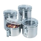 Ragalta - 4 Piece Stainless Steel Canister Set