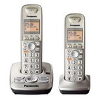 Panasonic - Dect 6.0 1.9GHz 2 Handsets Cordless Phone With Digital Answering Machine