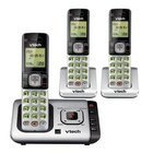 VTech - DECT 6.0 3 Handset Cordless Phone With Digital Answering Machine