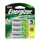 Energizer - 4 Pack Of AA Rechargeable Batteries