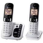 Panasonic - DECT 6.0 1.9Hz 2 Handset Cordless Phone With Digital Answering Machine