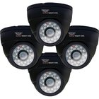 Night Owl - Hi-Resolution 600 TVL Black Security Dome Camera (4 Pack)