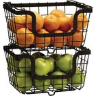 Mikasa - General Store Set Of Two Stacking/Nesting Baskets