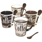 Mr. Coffee - Coffee Mug And Spoon Set For 4