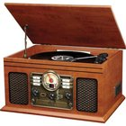 Innovative Technology - 6-In-1 Bluetooth Nostalgic Entertainment Center
