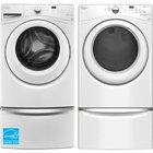 Whirlpool - 4.2 CuFt Front Load Washer With 7.4 CuFt Duet Front Load Electric Dryer