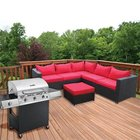 Doral Designs - Castell 2 Piece Wicker Furniture Group With 3 Burner Gas Grill