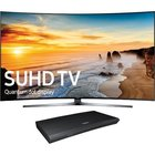 Samsung - 78 Class Smart Curved Quantum 4K SUHD TV With Wi-Fi With Internet-Ready 3D Blu-ray Player With Built-In Wifi