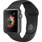 Apple - Series 1 38mm Space Gray Aluminum Black Band