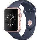 Apple - Series 1 42mm Rose Gold Aluminum Blue Band