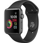 Apple - Series 2 42mm Space Gray Aluminum Case With Black Sport Band