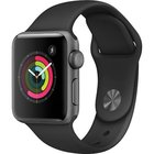 Apple - Series 2 38mm Space Gray Aluminum Case With Black Sport Band