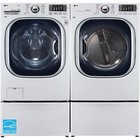 LG - 4.5 CuFt Front Load Washer With 7.4 CuFt Front Load Electric Dryer