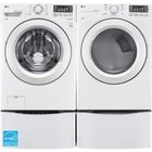LG - 4.5 CuFt Front Load Washer With 7.3 CuFt Front Load Electric Dryer