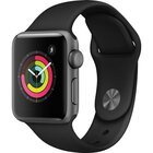 Series 3 38mm Space Gray Aluminum Case With Black Sport Band