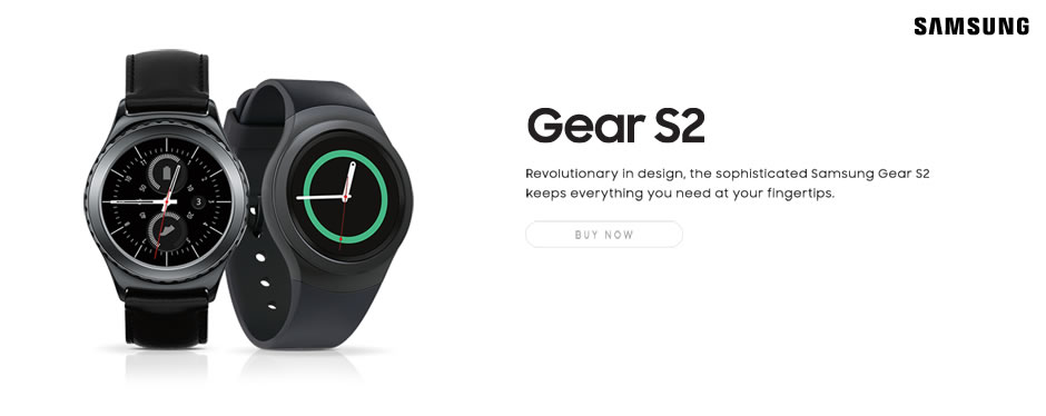 Samsung Gear S2. Revolutionary in design, the sophisticated Samsung Gear S2 keeps everything you need at your fingertips.
