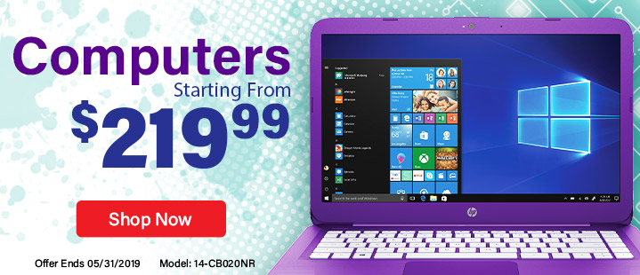 Computers Starting From $219.99. Shop Now.